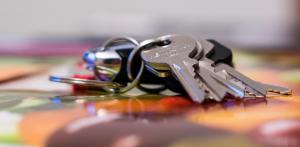 Schlüsselmäppchen Leder